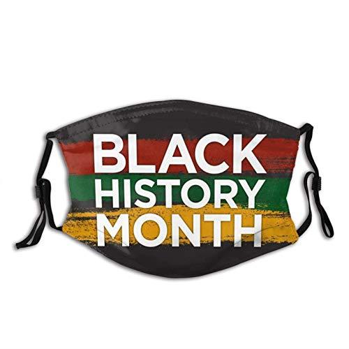 Black History - Máscara facial para meses, lavable, transpirable, reutilizable, ajustable, para adultos y hombres al aire libre