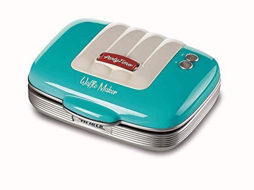 Ariete Maker Waffle 700 W, antihaftbeschichtete Platten, Hellblau