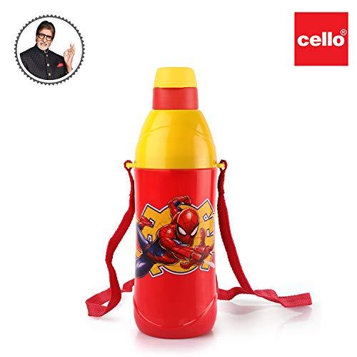 Cello Puro Kids Steel Inner 600ml Water Bottle for Kids, Red