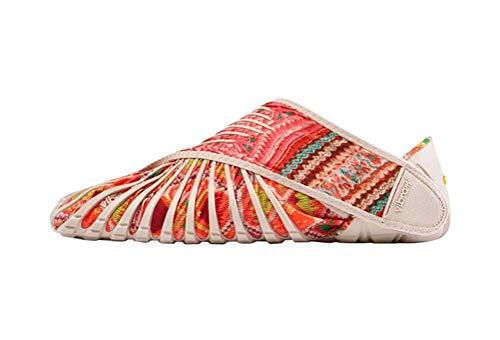 Zapatillas de deporte Vibram Furoshiki Five Stretch stof Bat para hombre y mujer, color rosa, XS