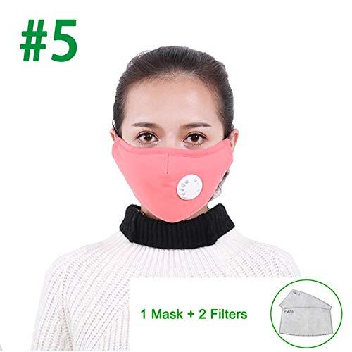 xmwm Wasbaar Anti-Vervuiling Masker Stofzuiger Herbruikbare Maskers Katoen Unisex Mond Muffel Voor Allergie Asthma Reizen Fietsen