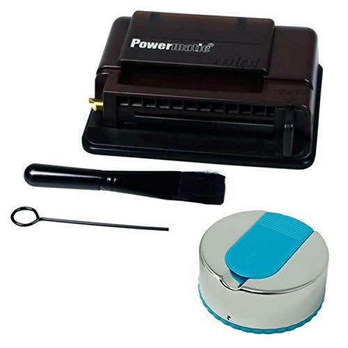 Powermatic Mini Noir Brown Plus Taschenaschenbecher schwarz-Handstopfmaschine, Kunststoff, M