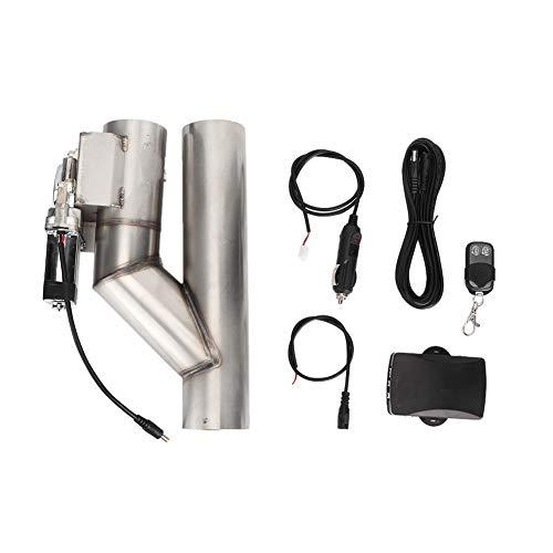 Qiilu Válvula de escape eléctrica para automóvil, Kit de control remoto de...