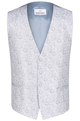 Wilvorst Hochzeitsweste, grau-blau, paisleyähnliche Musterung Größe 54