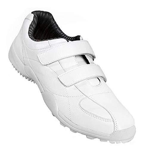 PGM-XZ007 Damen Kinder Golfschuhe, wasserdicht, rutschfest, Klettverschluss, Sportschuhe, Weiß - weiß - Größe: 37 EU