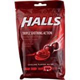 Halls Mentho-Lyptus Drops Cherry - 30 ct, Pack of 3