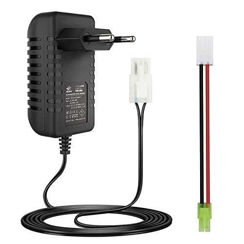 melasta Cargador de batería NIMH Inteligente de 7,2 V 8,4 V 9,6 V para batería Airsoft 2-10S batería de Coche RC con Conector Tamiya y Mini Tamiya