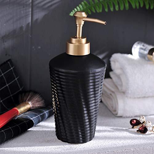 NYKK Dosificador de jabón Cerámica desinfectante de la Mano Loción de Split Press Botella Hotel Baño de Ducha del champú Botella Creativa del Gel dispensador de jabón