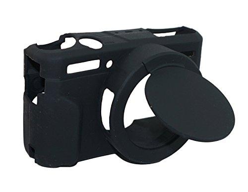 Copertura del gel del silicone della copertura della lente rimovibile in gomma morbida cassa della macchina fotografica per Canon PowerShot G7x Mark II fotocamera nero