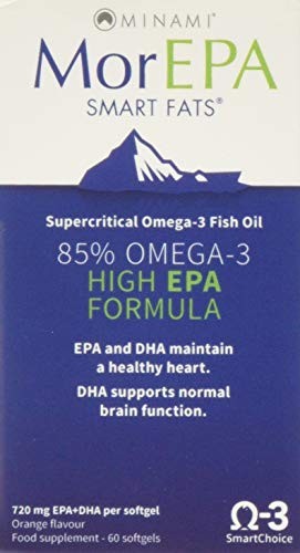 Minami Nutrition Smart Fats Omega 3 Fish Oil, EPA, DHA - 60 Softgels (PACK OF 1)