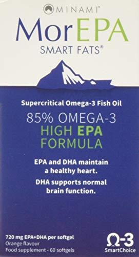 MoreEPA Smart Fats Omega 3 Fish Oil, EPA, DHA - 60 Softgels (PACK OF 1)