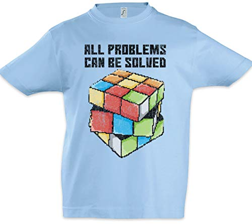 Urban Backwoods All Problems Can Be Solved Niños Chicos Kids T-Shirt Azul Talla 10 Años