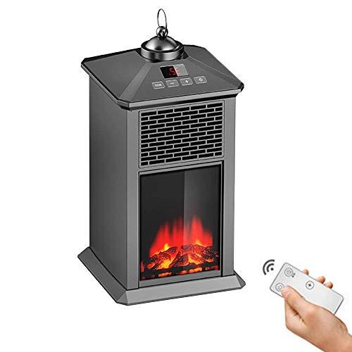 Mini radiateur électrique Free-Stan avec Thermostat et Fonction minuterie avec Effet de Flamme de feu pour la Maison et Le Bureau