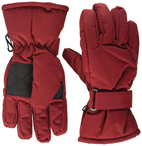MINYMO Unisex-Child Tussor solid Glove Liners, Rio Red, 8