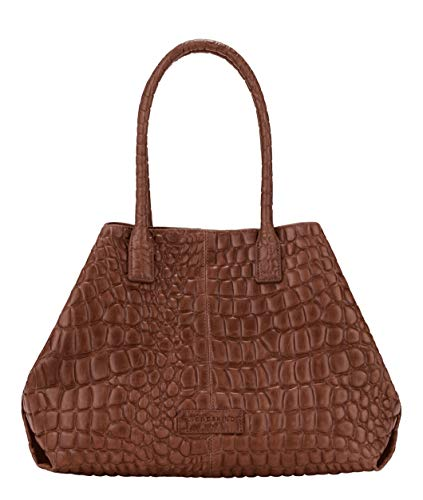 Liebeskind Berlin Damen Malibu L.A. Shopper Schultertasche, medium brown-8768, 15x28x36 cm