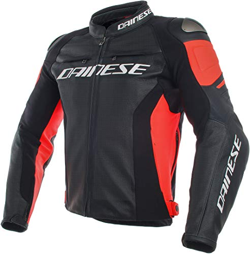 Dainese Men's Racing 3 Perf. Leather Jacket Black/Red,, used for sale  Delivered anywhere in Canada