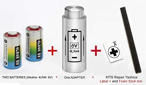 ADATTATORE + 2 BATTERIA per YASHICA Electro 35, (GL, GSN, GTN, GT, G, GS), AX SLR e MG1 - (PX32 a 4LR44)