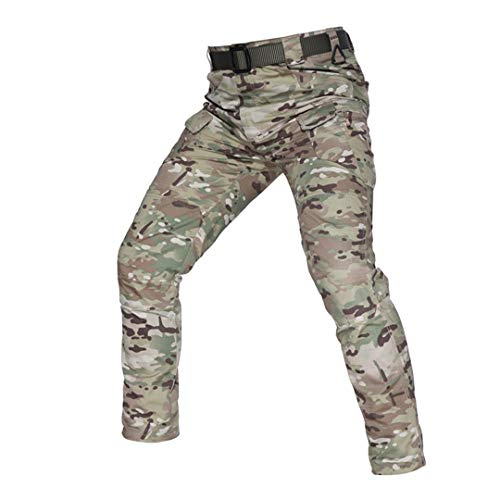 Oinrenstkp Tactical Camouflage Military Combat Cargo Pants Wasserabweisende Ripstop-Hose CP XL
