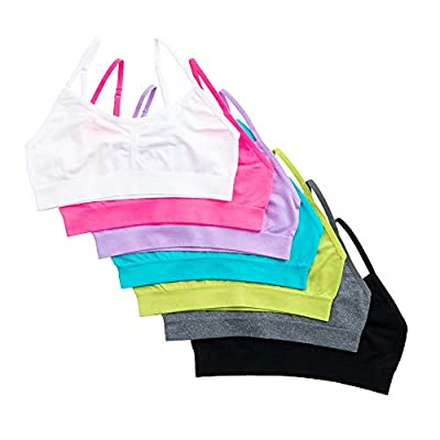 Alyce Intimates Seamless Girls Sports Bra, Pack of 7