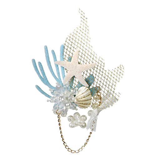 FUNZZY Sea Star Hair pin Chic Pearl Rhinestone Inlay Hair Clips Hair Barrettes Party Gifts for Women Girls