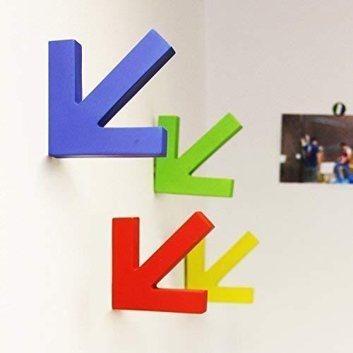 Walplus 28.4 x 18.2 x 3.8 cm Colorato Ganci Appendiabiti Parete Decalcomanie Decorazione Casa Soggiorno Camera Ufficio Décor