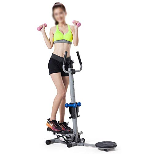 COLiJOL Gym Loopband 2 in 1 Mini Stepper Home Trainer met LCD Monitor Handvat Body Twister