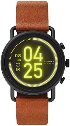 Skagen Connected Falster 3 Gen 5 Stainless Steel and Leather Touchscreen Smartwatch Color Brown product image