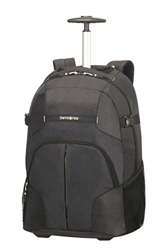 Samsonite Rewind Wheeled Laptop Backpack, 55 cm, 33 L, Schwarz