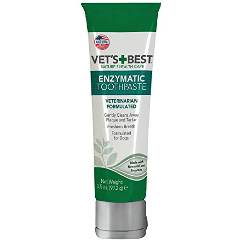 Vet's Best Enzymatic Dog Toothpaste For Teeth Cleaning and Fresh Breath Dental Care Gel, Vet Formulated 3.5 Ounces