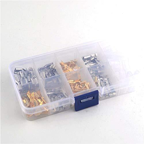 WFBD-CN Batterieklemmen Isolierten elektrischen Draht Crimp-Klemmen 2.8/4 / 4,8/6,3 mm Flachstecker Sortiment Kit mit Box