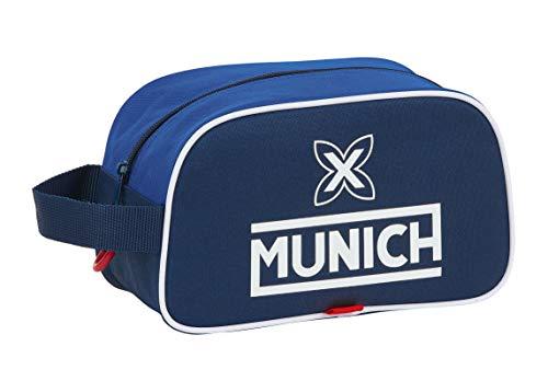 safta Neceser Escolar Infantil Mediano con Asa de Munich Retro, 260x120x150mm