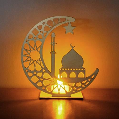 Longrep Ramadan Laterne LED Hängende Laternen, Muslim Ramadan Festival Dekoration Halbmond Star Lanterns mit LED-Lichtern, Dekoration für Partys, zu Hause und als Geschenk