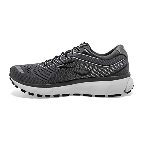 Brooks Mens Ghost 12 Running Shoe - Black/Pearl/Oyster - 2E - 11.0 6