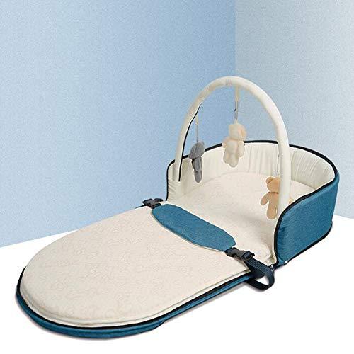 ZIXIANG Lits-Cages Lit Nouveau-né Portable Lit Bionique Baby Lounger Berceau pour Chambre Voyage Pliant Protecteur Pad Lits bébé Berceaux (Color : Green, Size : 01)