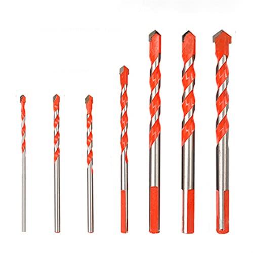 Brocas, 7 unids Professional Aleación de aleación de la aleación para la baldosa de vidrio Diámetro del abridor del orificio del hormigón 3/4/4/6/6/8/10/12 mm Twist Drill Bit para Madera Plástico Alum