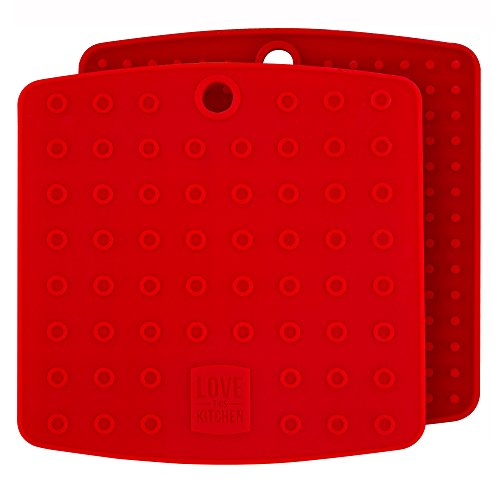 Premium Silicone Pot Holders for Kitchen - Easy to Clean Trivets for Hot Pots and Pans - This...