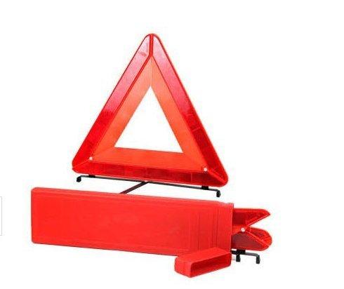 beishuo voiture Triangle réfléchissant Panneau d'avertissement de Croix Pliable Pieds Panneau d'avertissement de sécurité