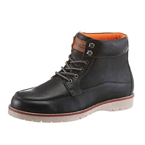 Petrolio Schuhe Boots Stiefel schwarz Leder (42)