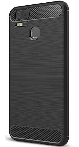 XINFENGDI Asus Zenfone 3 Zoom ZE553KL Hülle, Tasche mit Stoßdämpfung Robuste TPU Stylisch Karbon Design Handyhülle Hülle Hülle für Asus Zenfone 3 Zoom ZE553KL - Schwarz