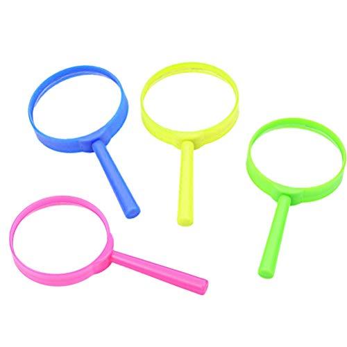 Toyvian Lupas para niños Lupas plásticas portátiles Lupas de lectura portátiles para niños 6 piezas