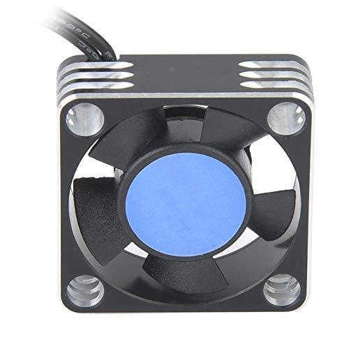 DAUERHAFT Metal 504 Motor ESC Ventilador de refrigeración Disipador de Calor Alta robustez Resistente al Desgaste Accesorio de Coche RC para niños Juguetes para niños Regalo(Silver Black)