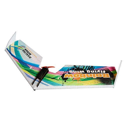 Goolsky Dancing Wings Hobby E0511 Regenbogen Flying Wing V2 RC Flugzeug 800mm Spannweite Delta Flügel Schwanz-Schub Flugzeug KIT