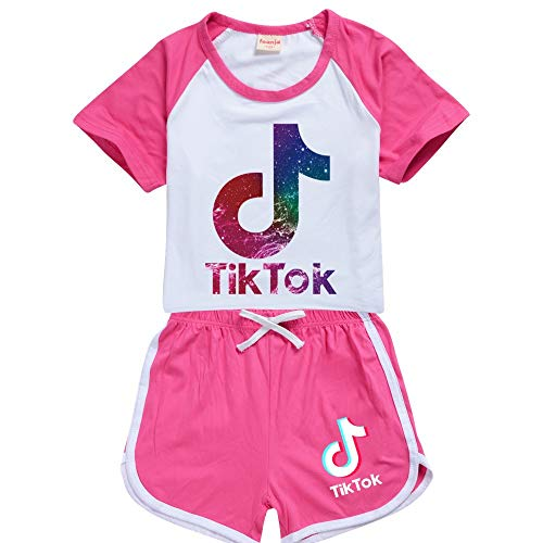 Tik Tok - Traje de sudor para niñas, sudadera con capucha tiktok, ropa de tok para niños, conjunto de chándal de gimnasio, sudadera de baloncesto al aire libre