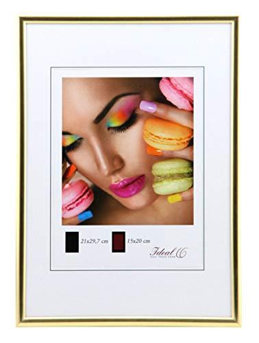 Ideal Trend Kunststoff Bilderrahmen 10x15 cm bis 50x70 cm Bilder Foto Rahmen: Farbe: Gold | Format: 50x70