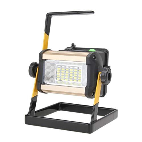 JJSCCMDZ Luz de Camping 50W 2400LM Recargable Impermeable IP65 LED Floodlight Light Light LED LED Spotlight 50W 2400lm 36 Lámpara al Aire Libre de 3 Modo