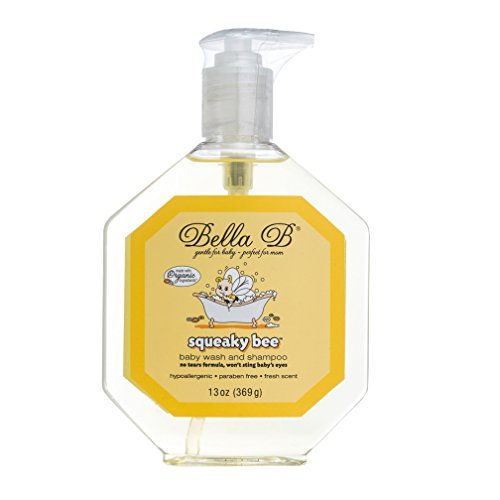 BELLA B Squeaky Bee Bodywash and Shampoo 13 oz - Baby Body Wash And Shampoo - Baby Bath Wash - Organic Body Wash - Natural Body Wash - Kids Body Wash - Organic Soap - Baby Soap - Shampoo Organic