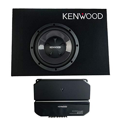 Kenwood P-W101B 10 Inch Car Loaded Vented Subwoofer & 500W Amplifier...