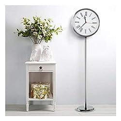 Yxx max -Bracket Clock Simple Standing Clock Creative Floor Clock Living Room Table Clock Mall Home Clock Modern Clock Quartz Clock Roman Numerals Home Outdoor (Color : A)
