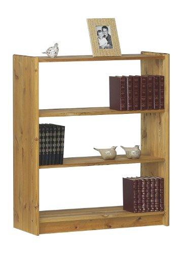 Steens Axel Bücherregal, mit 2 verstellbaren Böden, freistellbar, 84 x 100 x 30 cm (B/H/T), Kiefer massiv, gelaugt geölt