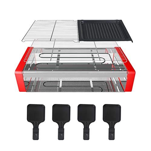 garny Elektro Grill Rauchfreier,Teppanyaki-Grillplatte mit Antihaftbeschichtung,Verstellbarer Thermostat,BBQ Barbecue,max 250 °C,1500Watt